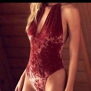 Out from under velvet crushed Body suit strappy